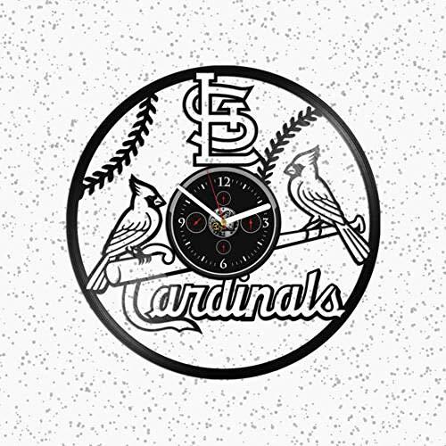 St. Louis Cardinals Vinyl Wanduhr Cardinals Clock Geschenk Für Mann Cardinals Geschenk (Cardinals-aufkleber St Louis)