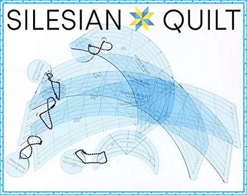 Silesian Quilt Vorlage zum Quilten von Curves 4, 8, 12, 16 und 20 Zoll