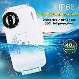 FSBMIN Shell impermeabile per iPhone X/XS Custodia subacquea IP68 Copertura protettiva subacquea professionale, Custodia per telefono fotografia, 40 m / 130 piedi Immersioni Surf Nuoto Snorkeling
