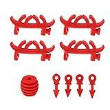 Homyl 1 satz Bogenschießen Dämpfer Compound Bogen Stabilisator aus Gummi - rot