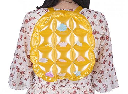 Zerlar Sacchetti di spalla della spiaggia Zaino spalla gonfiabile dello zaino sacchetto impermeabile Giallo