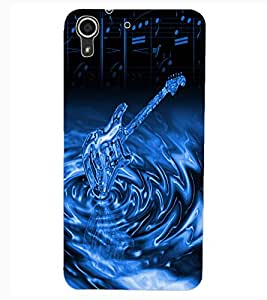 ColourCraft Stylish Guitar Design Back Case Cover for HTC DESIRE 626G+