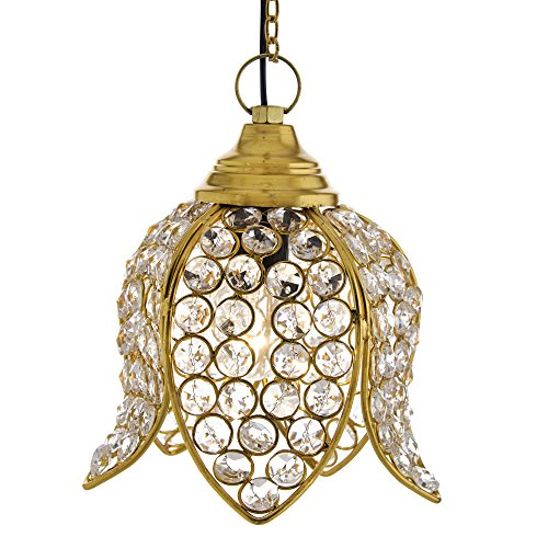 Homesake™ Crystal Hanging Lotus Pendant, Hanging Light, Hanging Lamp Fixtures, Dining Room Lights