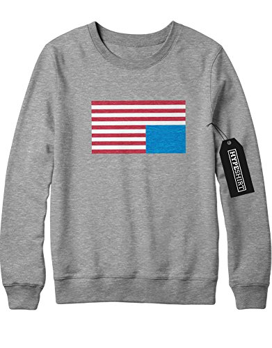 Sweatshirt House of Cards America Flag H549341 Grau M