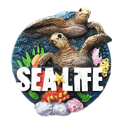 Sea Life Atlanta Georgia Amerika USA Kühlschrankmagnet Harz 3D Handgefertigte Handwerk Tourist Travel City Souvenir Sammlung Brief Kühlschrank Aufkleber