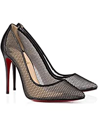Christian Louboutin - FOLLIES RESILLE 100 FISHNET - Black 053bd352127