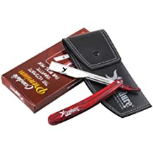 CANDURE Straight Cut Throat Razor–Peluquería Manual afeitado Set de regalo de alta calidad