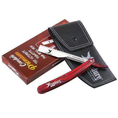 Candure taglio dritto gola rasoio manuale barbiere–set regalo di alta qualità