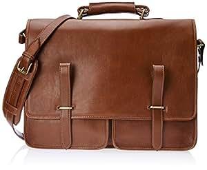Hidesign Parma-Ranchero Maori Leather Briefcase (Tan)