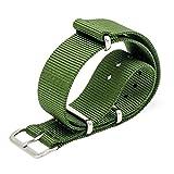 MEGALITH Uhrenarmband 18mm 20mm 22mm NATO Strap Premium Ballistic Nylon Armband Swiss Zulu Uhrband Edelstahl Schnalle mit Federstege Werkzeug und 4 Federsteges Bonus