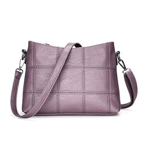 ZPFME Umhängetaschen Party Retro Bankett Mode Umhängetasche Elegant Collage Retro Damen Tasche Purple