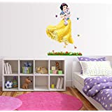 Asmi Collections Wall Stickers Snow white Disney Princess Butterfly(For Light color walls)