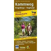 Kammweg Erzgebirge – Vogtland: Leporello Wanderkarte mit Ausflugszielen, Einkehr- & Freizeittipps, Straßennamen, wetterfest, reißfest, abwischbar, GPS-genau. 1:25000 (Leporello Wanderkarte / LEP-WK)