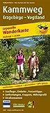 Kammweg Erzgebirge – Vogtland: Leporello Wanderkarte mit Ausflugszielen