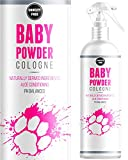 Baby Powder Cologne Perfume For Dogs - Talcum Fresh Smell & Aloe Vera Coat Conditioner- Naturally Derived - Lasts Up to 3 Days - 250ML - Made In The UK - From The No 1 Uk Pet Grooming Brand -
