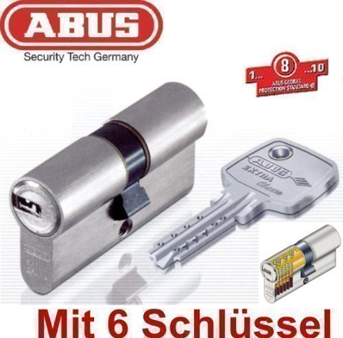 Profil-Doppelzylinder EC750 mit 6 Schlüssel Extra Classe ABUS