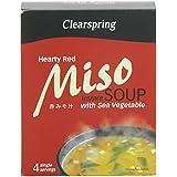 Sopa miso picante con algas 40gr. Clearspring. 8un.