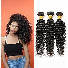 5d9727eb1896 Meche Bresilienne Lot Tissage Bouclé Naturel Human Hair Weave Bundle Meche  Deep Wave Virgin Remy Human