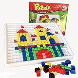 Gearmax 420 Stück Construction Baukasten Mosaik-Spielzeug aus Kunststoff mit Bunt Intelligentes Spielzeug für ab 3 Jahre Alt