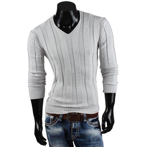 Tazzio pull en tricot pour homme avec gilet en tricot Gris - Gris