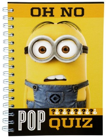 Official Despicable Me Minions - Oh No Pop Quiz - A5 Spiral Bound Notebook