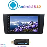 Android 8.1.0 Autoradio, Hi-azul Car Radio In-Dash 8 Zoll Car Stereo GPS Navigation Moniciver Navi 4-Core Car Audio für Mercedes-Benz E-W211/E200/E220/E240/E270/E280 (mit DAB USB Stick)
