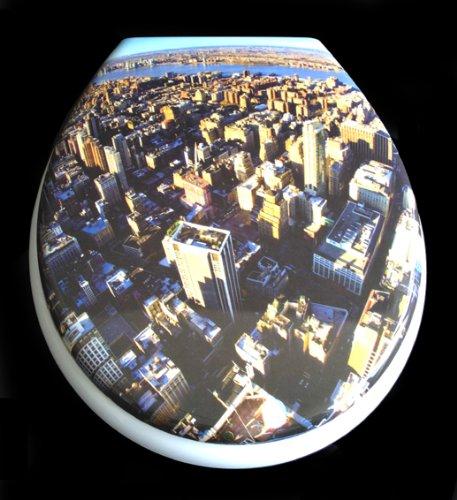 ADOB Duroplast WC Sitz Klobrille Modell Downtown mit Absenkautomatik, zur Reinigung abnehmbar, 59836