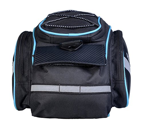 Bicycle Waterproof Rear Seat Trunk Bag with Should Strap, Blue - 4