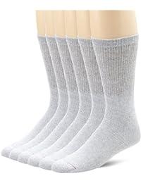 Hanes Men`s Grey Cushion Crew Socks - Best-Seller!
