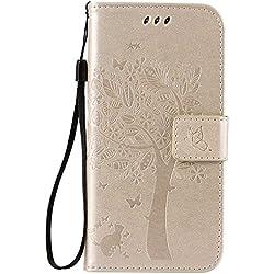 BoxTii® Coque Galaxy S7 [avec Gratuit Protection D'écran en Verre Trempé], Galaxy S7 Magnetic Housse Coque, Etui en Cuir pour Samsung Galaxy S7 (#8 Blond)