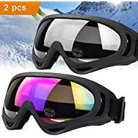 skibrille Schutzbrille JTENG Motocross Goggle Sportbrille Schneebrille Wintersport Brille Winddicht Staubschutz Fliegerbrille Snowboardbrille Schneebrille Skibrille