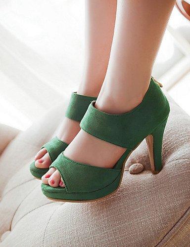 UWSZZ IL Sandali eleganti comfort Scarpe Donna-Sandali / Scarpe col tacco-Tempo libero / Formale / Casual-Tacchi / Spuntate / Plateau-A stiletto-Finta pelle-Nero / Blu / Black