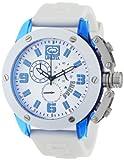 Marc Ecko E14509G5 - Reloj analógico de Cuarzo para Hombre, Correa de Silicona Color Blanco