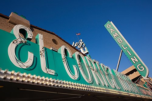 Panoramic Images – Low angle view of sign of El Cortez Hotel and Casino Fremont Street Las Vegas Nevada USA Photo Print (91,44 x 30,48 cm) (Fremont-street-casino)