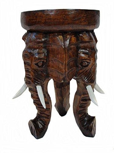 Unbekannt Hocker Elefant II Blumenpodest 30cm (Weißes Podest, Beistelltisch)