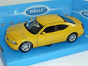 DODGE CHARGER 2006 R/T SALOON CAR YELLOW 1/24 WELLY MODEL CAR