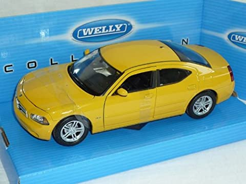 Dodge Charger 2006 R/t Limousine Gelb 1/24 Welly Modellauto Modell