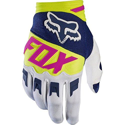 Dirtpaw Race Fox Racing Race Gloves - Motorrad MTB Handschuhe Herren Damen, Navy/Weiß, L