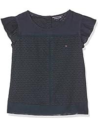 Tommy Hilfiger Mädchen T-Shirt Dobby Mix Top S/S