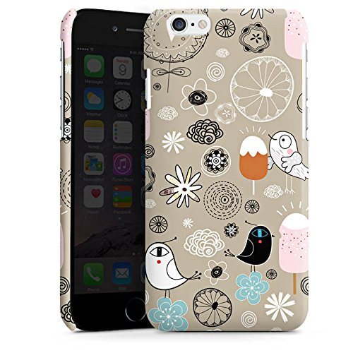 Apple iPhone 4 Housse Étui Silicone Coque Protection Les oiseaux aiment les glaces Glace Glace Cas Premium brillant