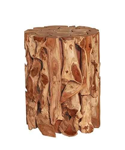 Vintage Line Beistelltisch Hocker Sockel Kepel Teakholz Teak Holz