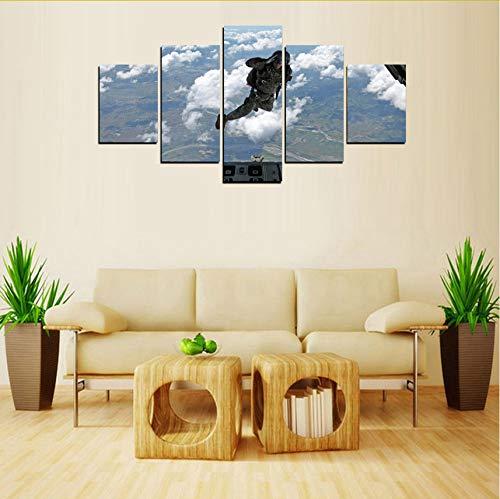 (Gwgdjk Original Oil Ink Print 5 Panels Leinwanddruck Fallschirm Malerei Auf Leinwand Wandkunst Bild Home Decor-40X60/80/100Cm,Without Frame)