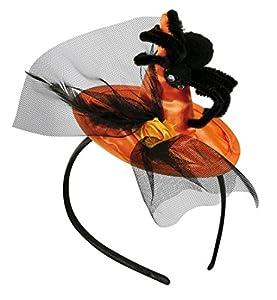 Minisombrero diadema de bruja con