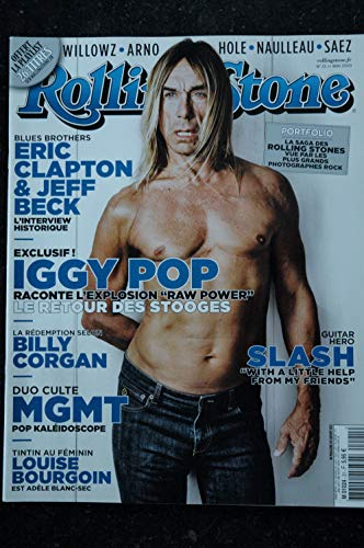ROLLING STONE 021 M 01024 Cover Iggy Pop Eric Clapton Jeff Beck Slash Louise Bourgoin MGMT (Rolling Stone Magazin-cover)