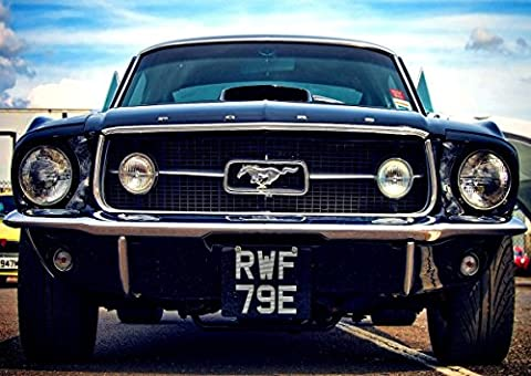 Poster Ford Mustang Vintage Classic Car Wall