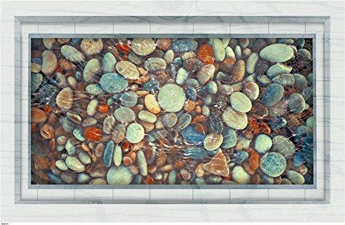 Cobblestone Pool 3D Surface Mount Badezimmer Wohnzimmer dekorative Wandhalterung PVC - Mount-Öl