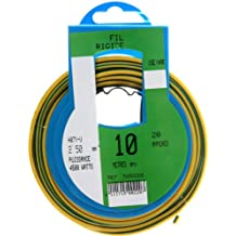 Profiplast PRP500220 - Bobina de cable (H07V-U, 2,5 mm² x 10 m), color verde y amarillo