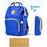 [Sponsored]T-Bags Mommy And Baby Large Backpack Diaper Bag Royal Blue With Changing Mat And Bottle Cover-MB30B
