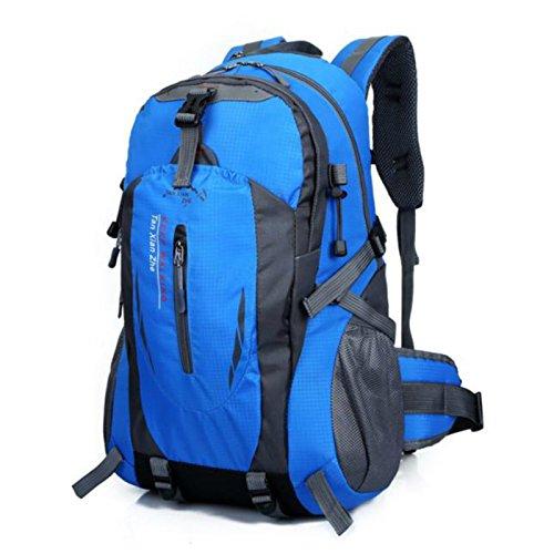 Buibao 40l Outdoor sport viaggi alpinismo campeggio trekking zaino borsa a tracolla, Blue Blue