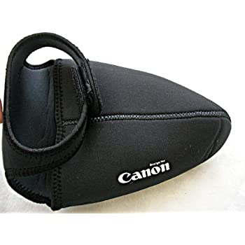 Travel Protector Camera Waterproof Neoprene Soft Cover Bag Case (L) for Canon DSLR